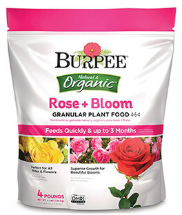 Burpee Natural Organic Rose Bloom Granular Plant Food 4-6-4, , large