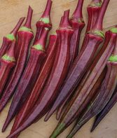 Okra, Burgundy, , large