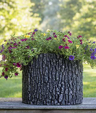 Surreal Faux Log Planters, , large