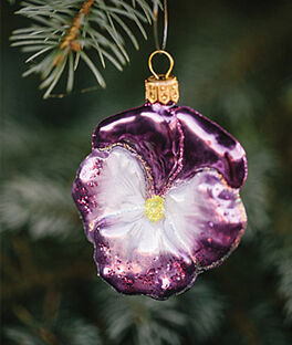 Pansy Glass Ornament , , large