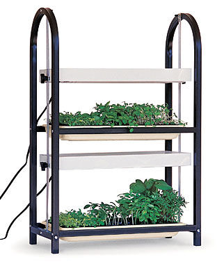 Burpee two tier lighting cart seed starting supplies and for Indoor gardening lighting guide