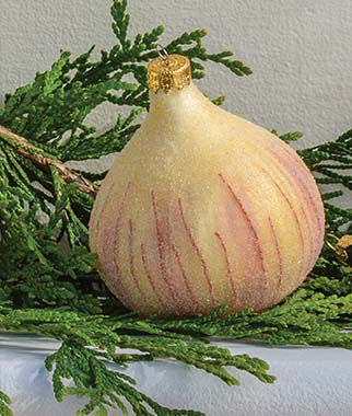 Red Delicious Onion Glass Ornament , , large