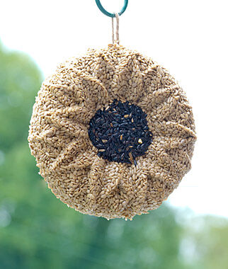 Wild Bird Seed Wreath, Sunflower, , large