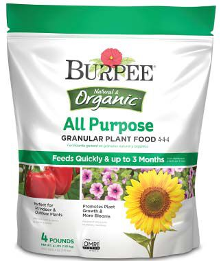Burpee Natural Organic All Purpose Granular Plant Food 4-4-4, , large