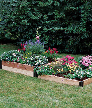 Two Stepper Complete Cedar Raised Bed , , large