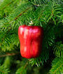 Red Delicious Pepper Glass Ornament, , large