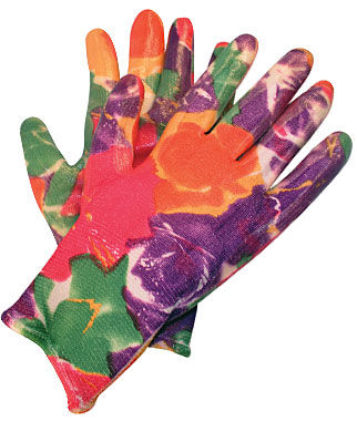 Gloves ladies floral infusion garden tools at for Ladies gardening tools