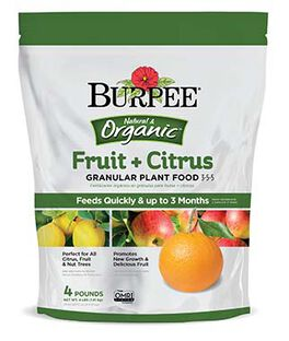 Burpee Natural Organic Fruit and Citrus Granular Plant Food 3-5-5, , large