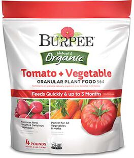 Burpee Organic Tomato + Vegetable Granular Plant Food 3-6-4, , large