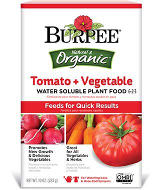 Burpee Organic Tomato + Vegetable Water Soluble Plant Food 6-2-3, , large