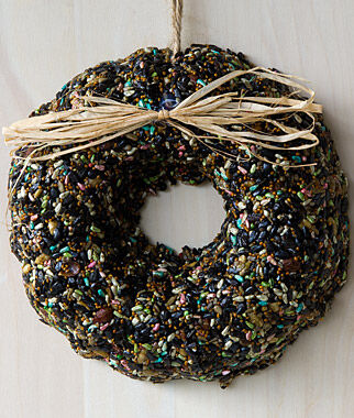 Wild Bird Seed Wreath, Spring , , large