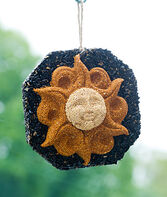 Wild Bird Seed Wreath, Sun Face, , large