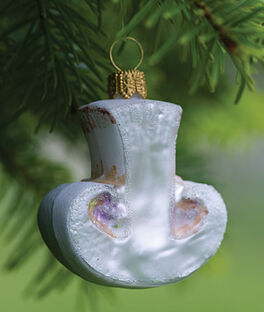 Glass Ornament Mushroom, , large