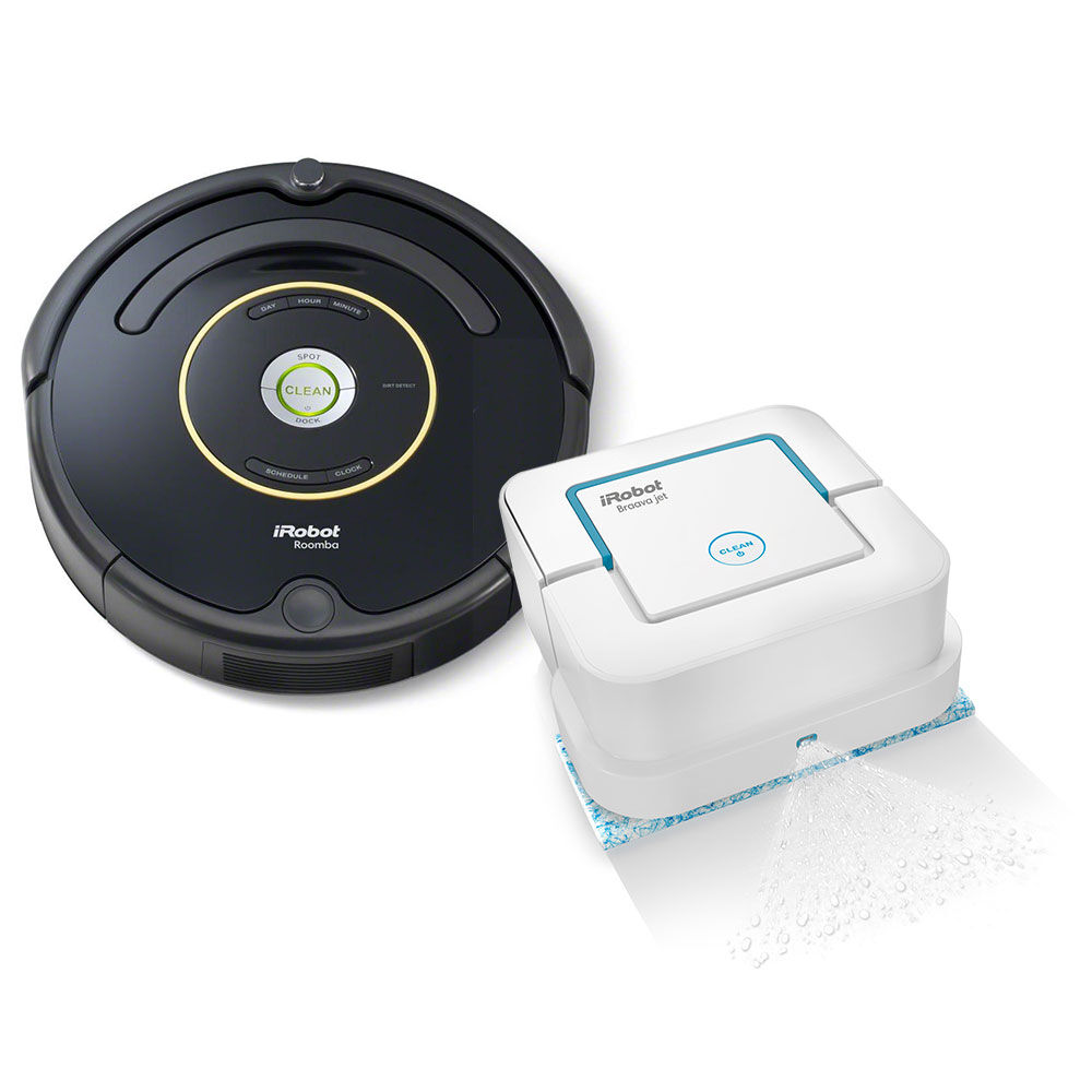 iRobot® Roomba® 650 Vacuuming Robot & Braava jet™ 240 Mopping Robot Bundle