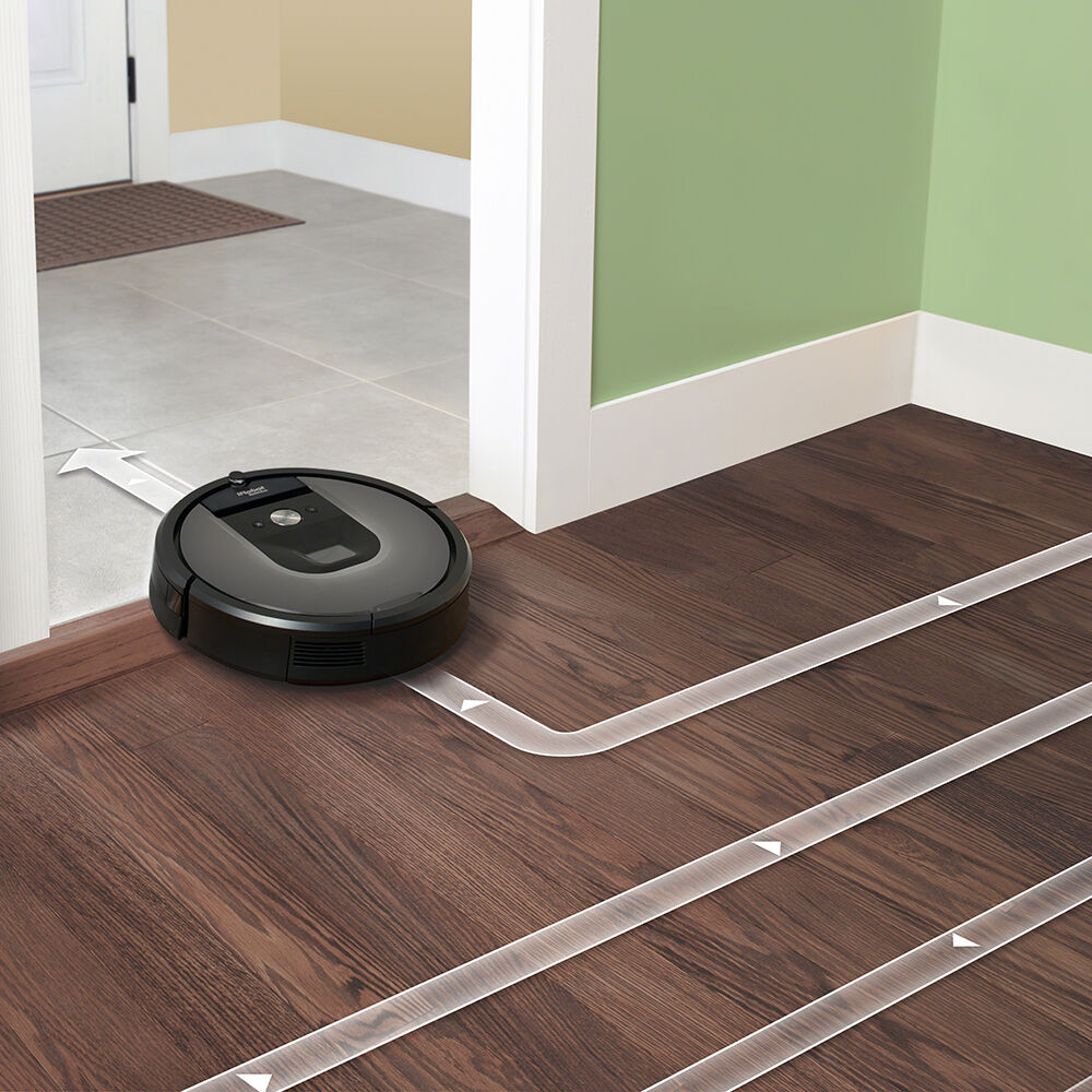 ... Roomba 960 navigating from one room to another ...