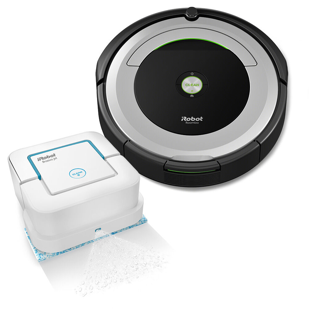 iRobot® Roomba® 690 Vacuuming Robot & Braava jet® 240 Mopping Robot Bundle