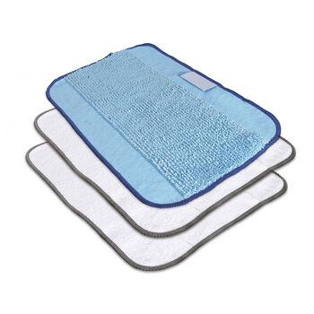Embalagem de 3 panos de limpeza de microfibra (dois tipos)