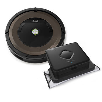 iRobot® Roomba® 890 Vacuuming Robot & Braava 380t Mopping Robot Bundle
