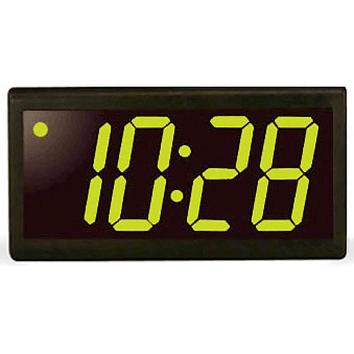 Digital wall clocks 4 digit 4 green led black plastic poe clock amipublicfo Image collections