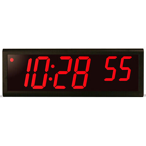 6 digit 4 red led black aluminum poe clock