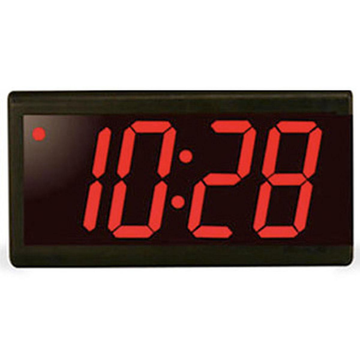 4 Digit 4 Red Led Black Plastic Poe Clock
