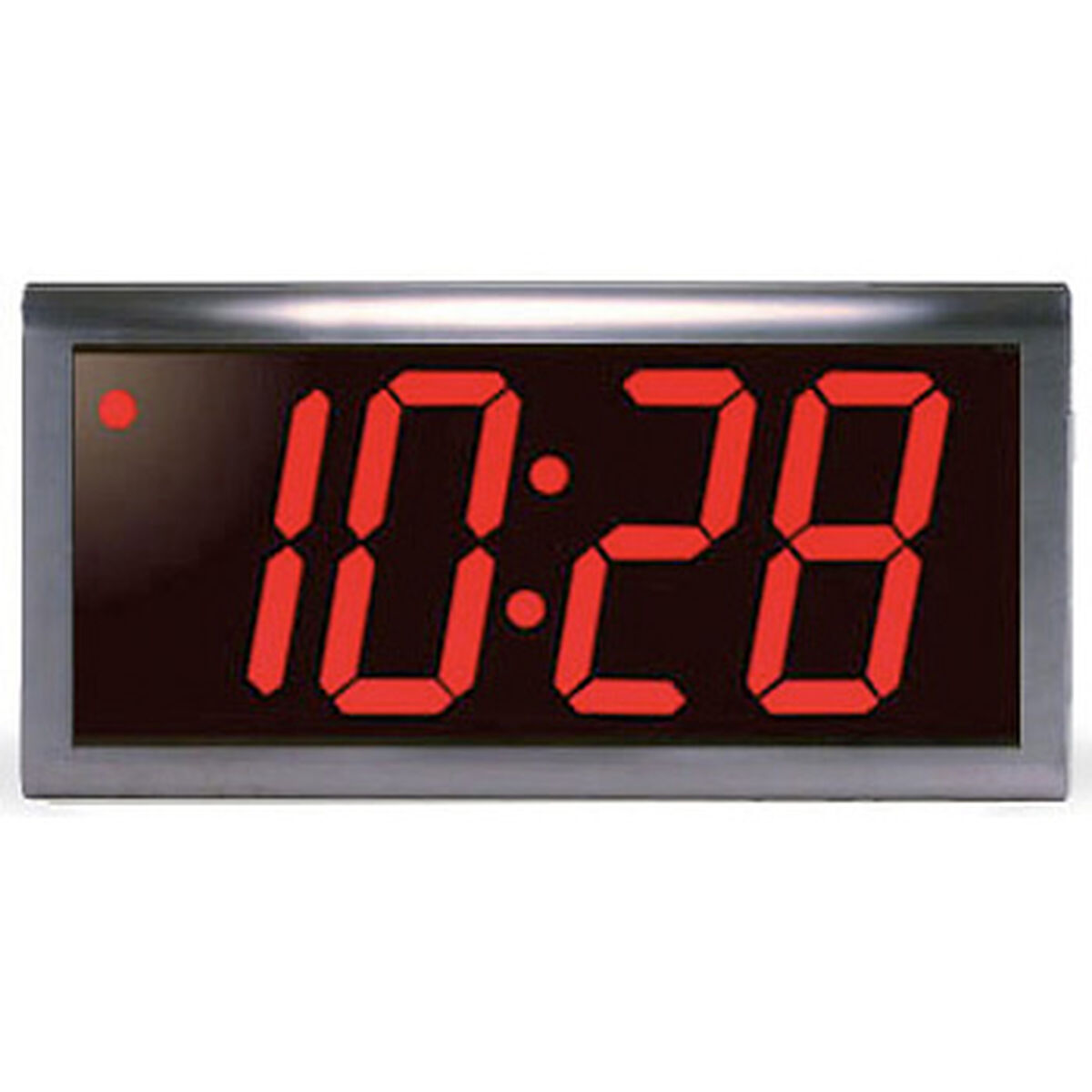 Digital wall clocks 4 digit 4 red led stainless steel poe clock amipublicfo Gallery