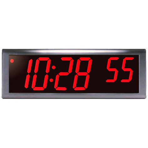 6 digit 4 red led stainless steel poe clock