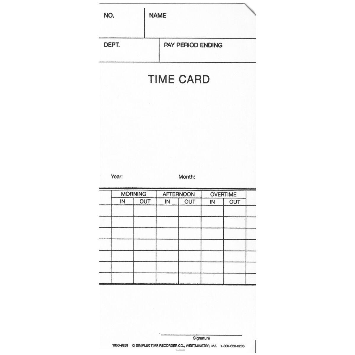 weekly timecard