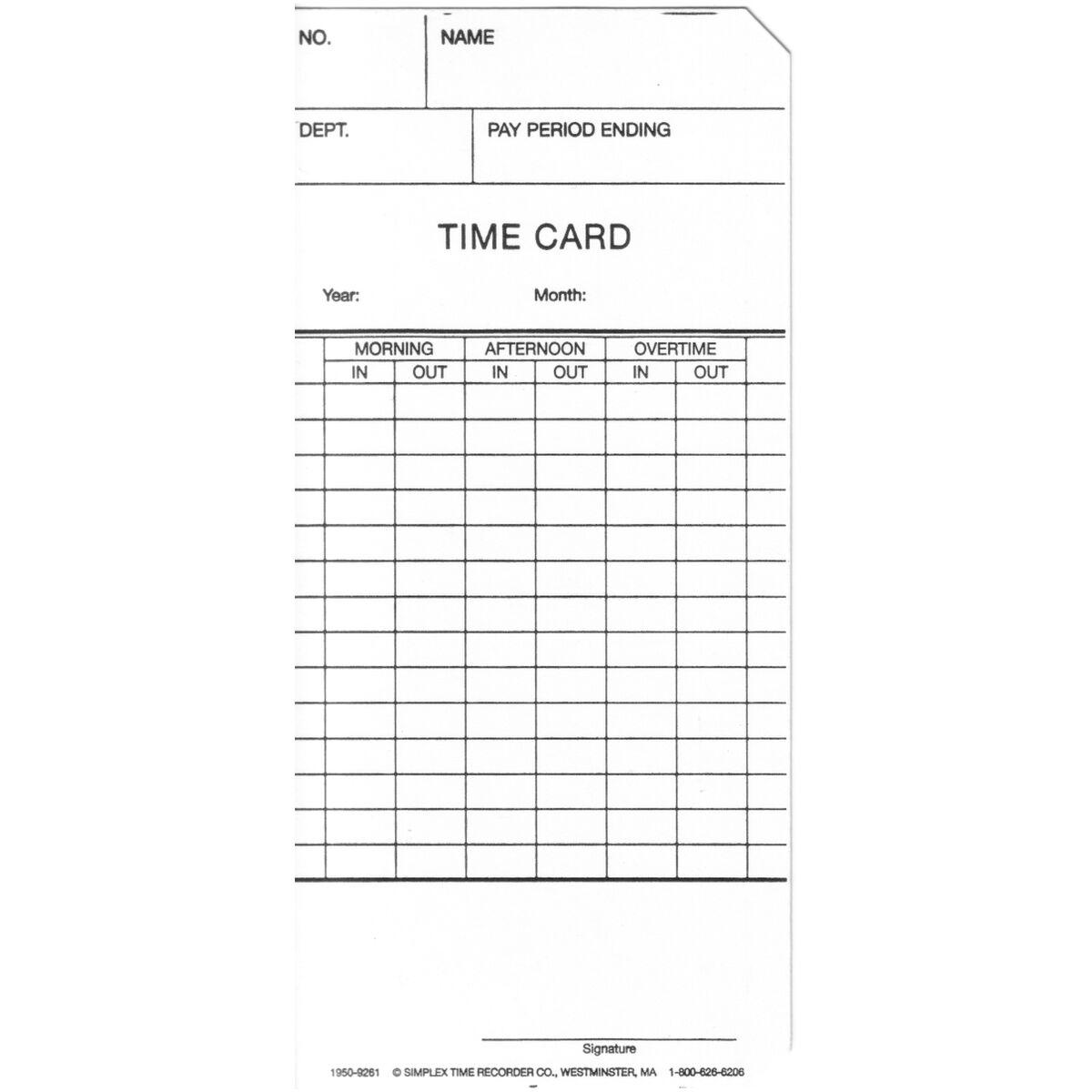 biweekly time cards
