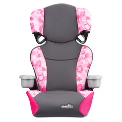 Big Kid Sport Highback 2-in-1 Belt-Positioning Booster Car Seat (Peony Playground)