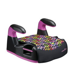 AMP LX No-Back Belt-Positioning Booster Car Seat (Peace and Love)