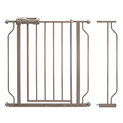 Easy Walk-Thru Pressure-Mounted Pass-Through Gate (Tan)