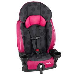 ADVANCED Chase LX Harnessed Booster Car Seat (Dotty Flamingo)