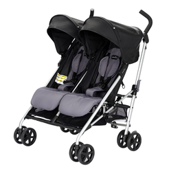 Minno Twin Double Stroller (Glenbarr Grey)