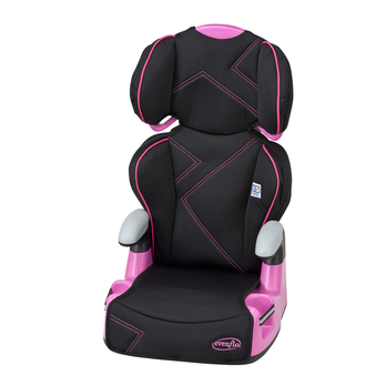 AMP Highback 2-in-1 Belt-Positioning Booster Car Seat (Pink Angles)