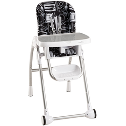 Modern 200 High Chair (Black/Grey)