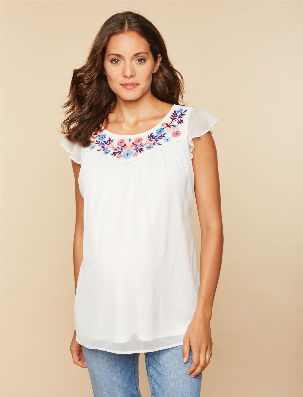 Embroidery Maternity Top at Motherhood Maternity in Victor, NY | Tuggl