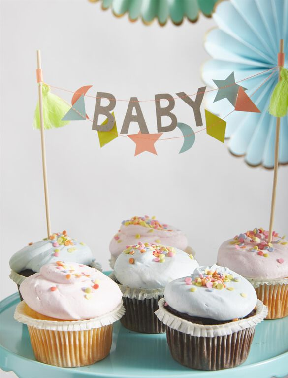 Meri Meri Baby Cake Topper, Multi Color