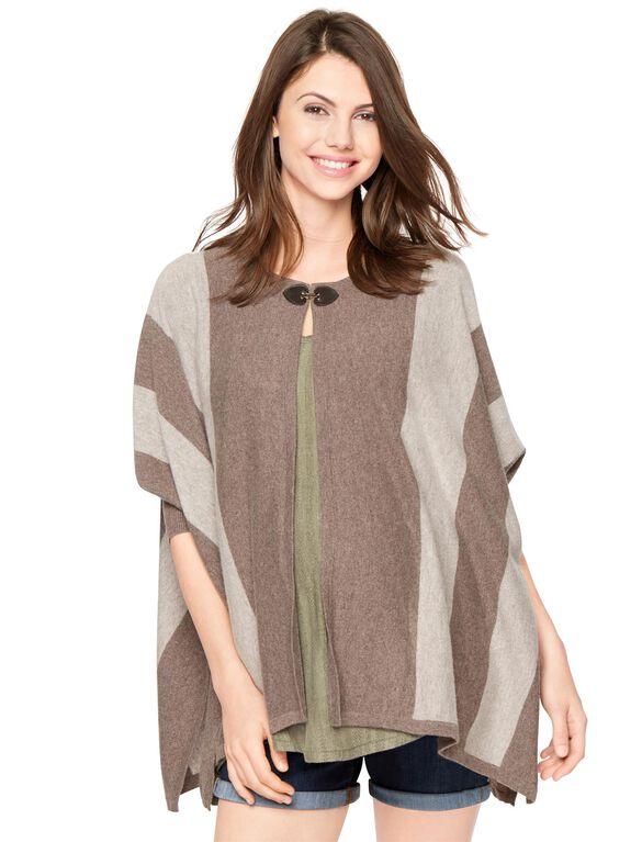 Autumn Cashmere Button Detail Maternity Cardigan, Mulch/Putty