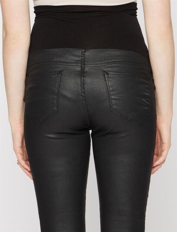 Vigoss Secret Fit Belly Coated Maternity Jean, Coated Black