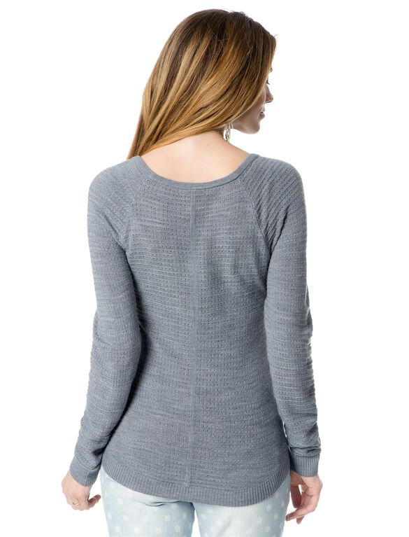 Maternity Sweater, Heather Grey