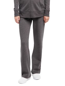 Under Belly Fleece Boot Cut Maternity Lounge Pants, Grey