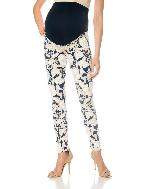 7 For Mankind Secret Fit Belly Skinny Leg Maternity Jeans, Floral