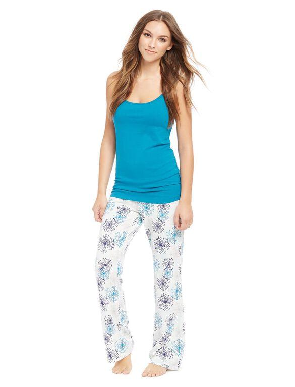 Maternity Sleep Pants- Prints, Snowflake Print