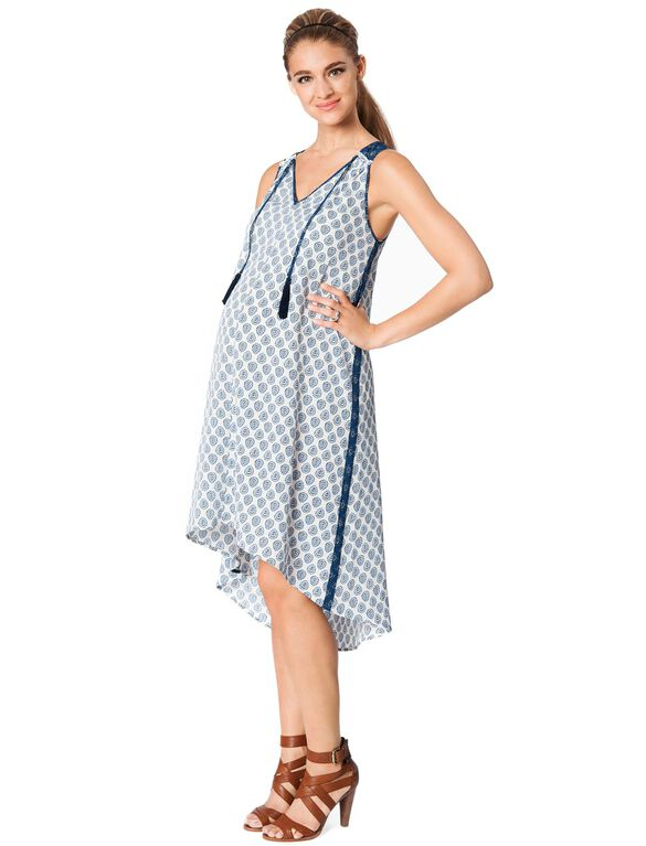 Rachel Zoe Sleeveless Printed High-low Maternity Dress, Multi Print