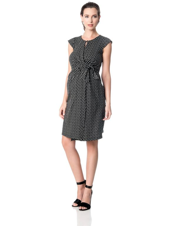 Seraphine Dot Print Maternity Dress, Multi Print
