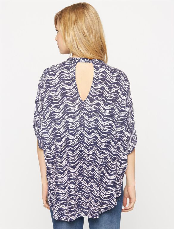 Splendid Back Interest Maternity Shirt, Multi Print