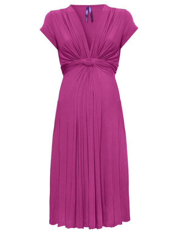 Seraphine Jolene Short Sleeve Maternity Dress- Fuchsia, Fuchsia