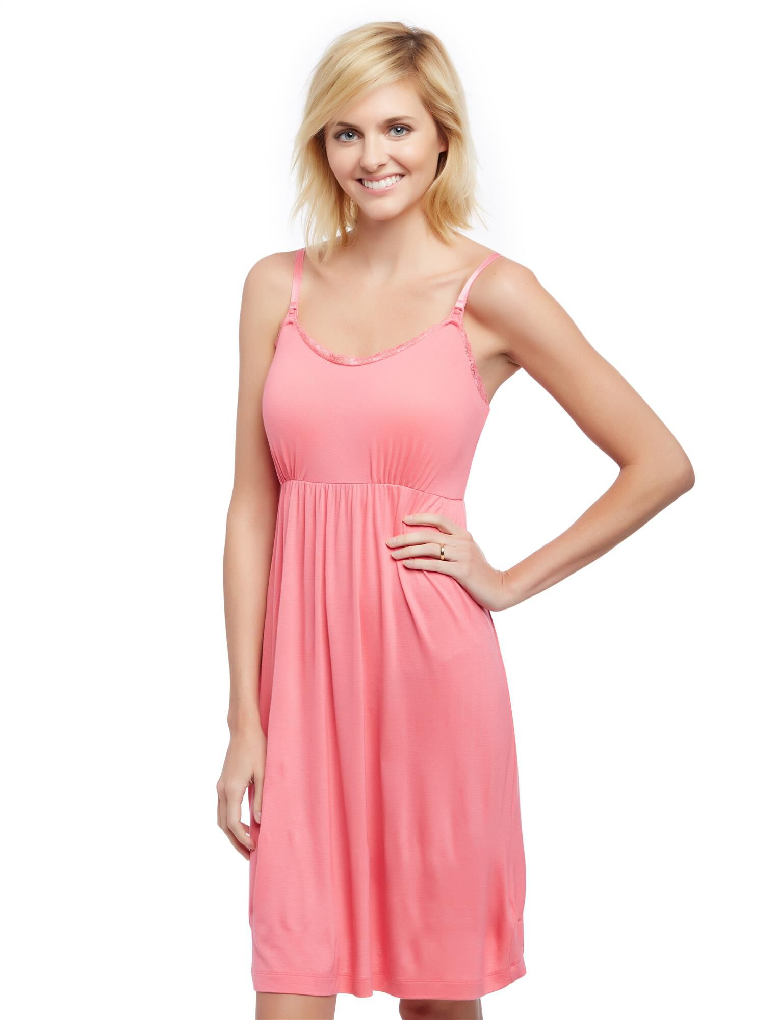 Bump in the Night Nursing Nightgown- Camellia Rose