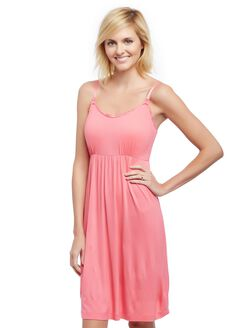 Bump in the Night Nursing Nightgown- Camellia Rose, Camellia Rose